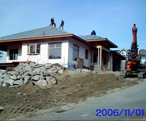 Mahon ICF Residence under construction ANGLE VIEW